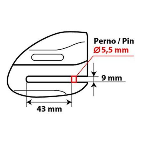 Étrier de frein à disque Jaw Moto avec broche de 5,5 mm