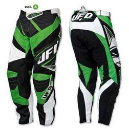 Pantaloni Moto Cross Enduro UFO Modello MX23 Micron Colore Verde Kawasaki