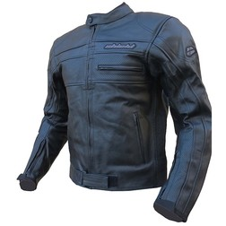 In Motorcycle Jacket Jacket Genuine Leather Perforated Black Sheild Model Eagle Air
