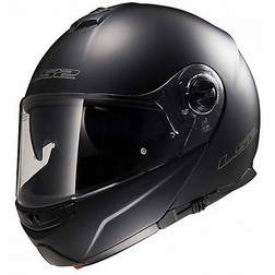 Doppelmasken-Modular Motorrad Helm LS2 FF 325 Strobe Matt Schwarz