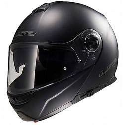 Dual Visor Modular Motorcycle Helmet LS2 FF 325 Strobe Matt Black