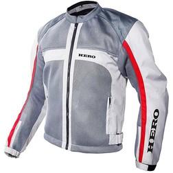 Moto Jacke Technische Sommer traforato Held Super-Mash Weiß Grau Rot