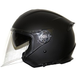 Motorcycle Helmet Jet Along Origin Palio 2015 Double Visor Matt Black