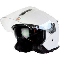 Motorcycle Helmet Jet Along Origin Palio 2015 Double Visor Shiny White