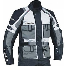 Motorcycle Jacket Hero Fabric Technician 4 Seasons HR 2700 Grey Black Removable