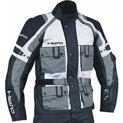 Giacca Moto Hero in Tessuto Tecnico 4 Stagioni HR 2700 Grigio Nero Sfoderabile