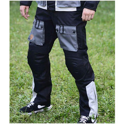 Motorcycle Pants Hero Fabric Technician 4 Seasons HR 2701 Grey Black Removable coverings
