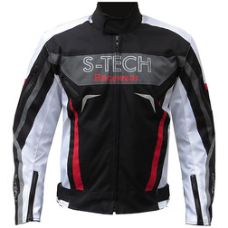 Technical motorcycle jacket In S-tech fabric 3 Layers Model Glaring Black White Red