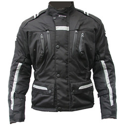 Moto Jacket Jacket Judges fabric 3 Layer Model Master Black tour