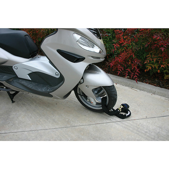 Antifurto Moto Maxi-Catena Kiton Con Lucchetto Blindato 120 Cm