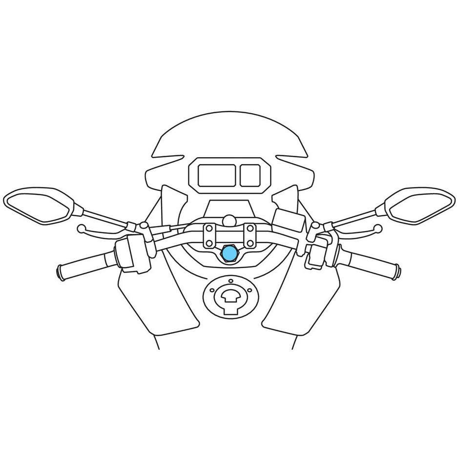 Attacco Canotto di Sterzo Moto Ø 13,5 - 14,7 mm Lampa 90558 OPTI-TUBE per Porta Smartphone