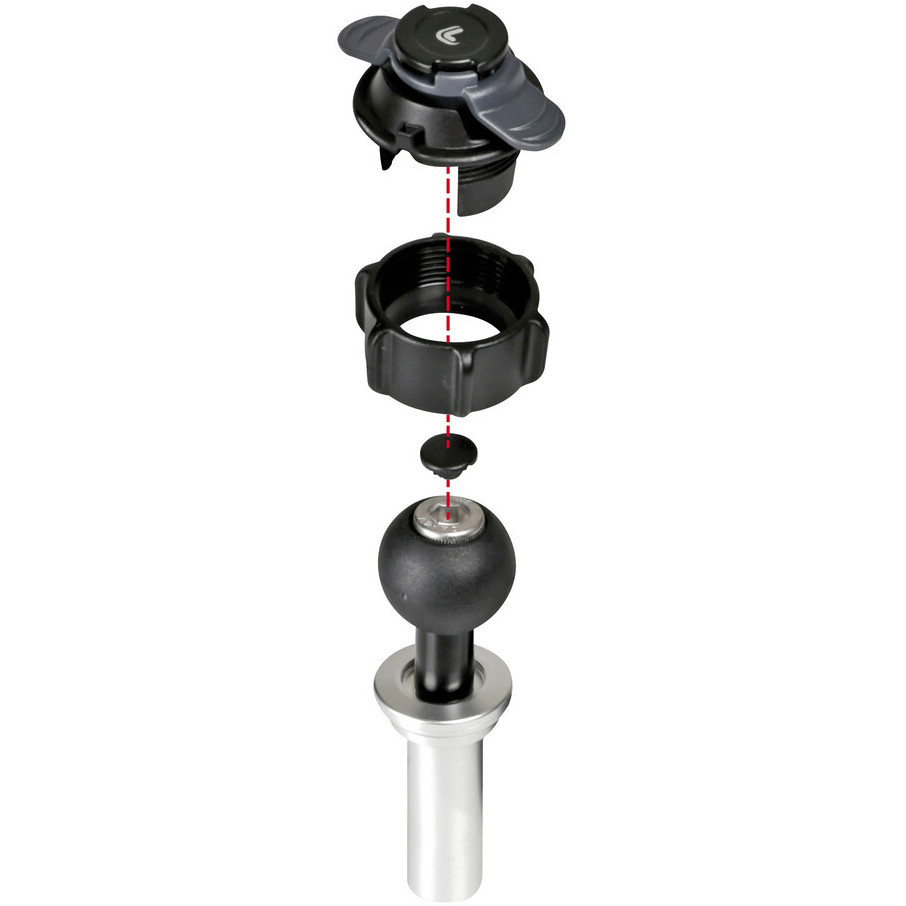 Attacco Canotto di Sterzo Moto Ø 20,3 - 24,5 mm Lampa 90559 OPTI-TUBE per Porta Smartphone