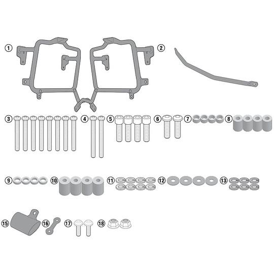 Attacco Per Borse Laterali Monokey - Retro Fit Kappa Specifico per Suzuki Dl 650 V-Strom 2017