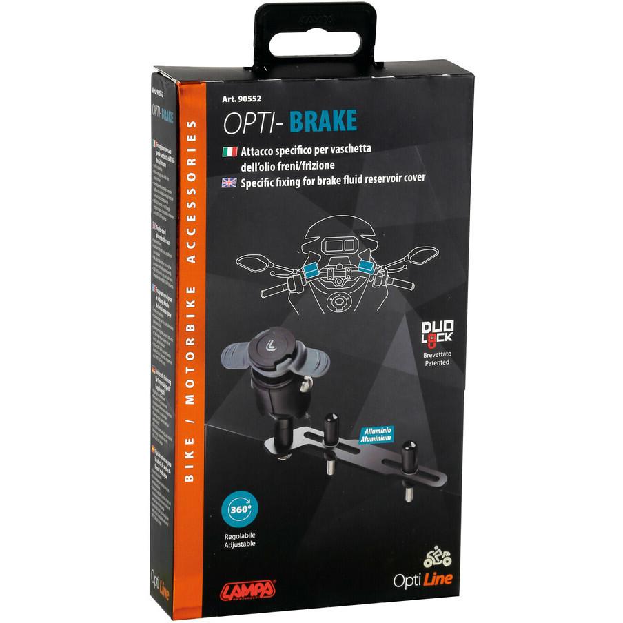 Attacco Per Coperchio Vaschetta Olio Freni o Frizione Moto Lampa 90552 OPTI-BRAKE per Porta Smartphone