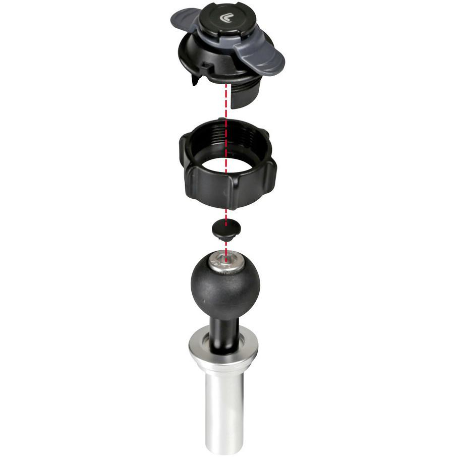 Attacco Porta Smartphone Canotto di Sterzo Moto Ø 15-17,2 mm Lampa 90457 OPTI-TUBE