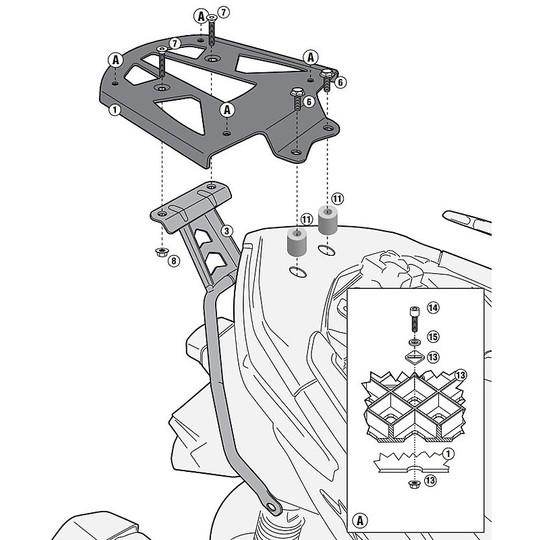 Attacco Posteriore Givi SR2117M per Bauletti Monolock Specifico per Yamaha X-Max 125-250 (14-17)