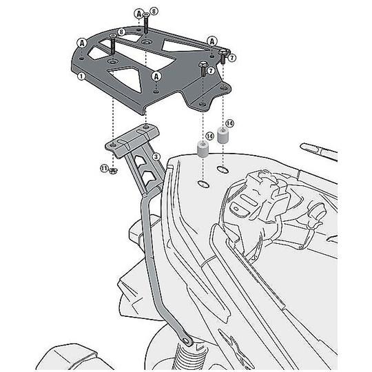 Attacco Posteriore Kappa KR2117 per Bauletti Monokey Specifico per Yamaha X-Max 125-250 (14-17)