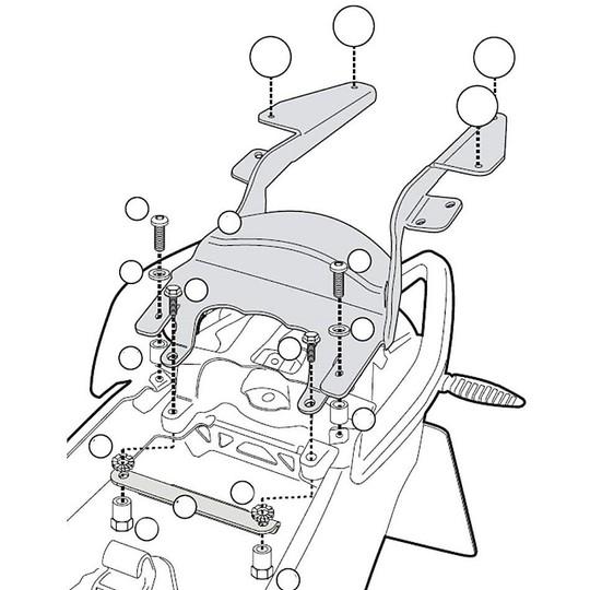 Attacco Posteriore Kappa KZKR5100M per Bauletto Monolock Specifico per BMW R1200R