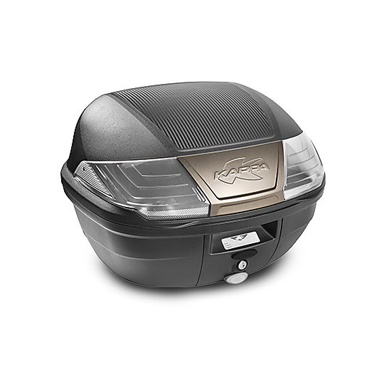 Baluetto Moto Monolock System Kappa K400N Nero Catadriotti Trasparenti 40 Lt.