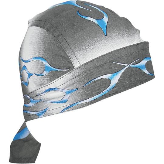 Bandana Sottocasco Moto Zanheadgear Flydanna Fiamma Blu