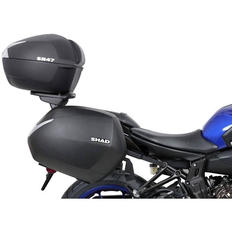 Bauletto Moto Shad SH47 Nero Catadriotto Bianco 47 Litri