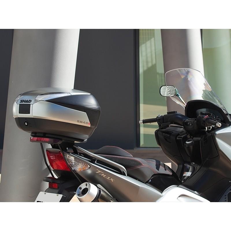 Bauletto Moto Shad SH48 New Titanium 48 Litri + Cover Carbon look + Schienalino