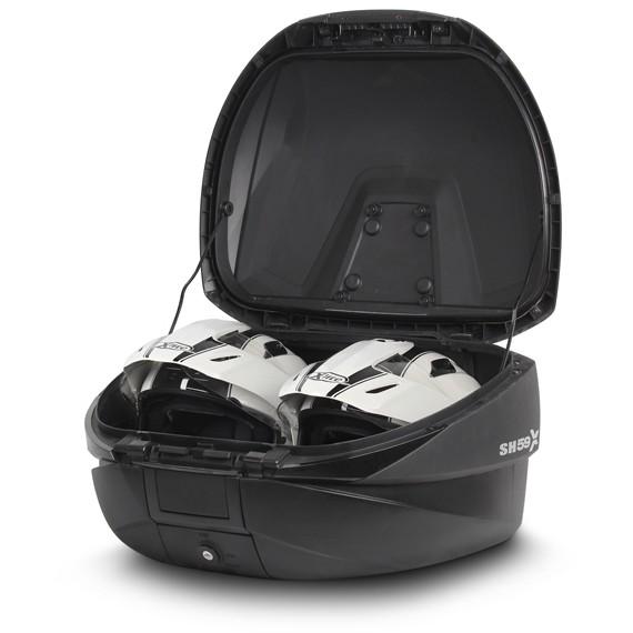Bauletto Moto Shad SH59X Espandibile da 46 a 59 Litri Cover Alluminio