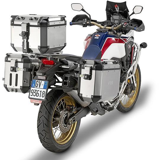 Bauletto Top Case Monokey Moto Givi OBKN42A TREKKER OUTBACK 42 Litri in Alluminio