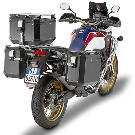 Bauletto Top Case Monokey Moto Givi OBKN42B TREKKER OUTBACK Black Line 42 Litri in Alluminio Verniciato Nero