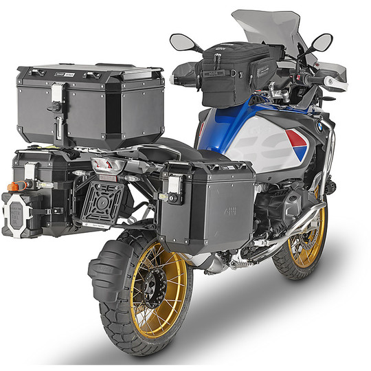 Bauletto Top Case Monokey Moto Givi OBKN58B TREKKER OUTBACK Black Line 58 Litri in Alluminio Verniciato Nero