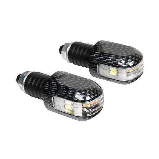 Bilanceri Stabilizzatori Universali Lampa Con Led 12V Carbon Look