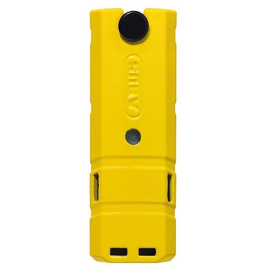 Blocca Disco ABUS Detecto X Plus 8077 Giallo con Allarme e Sensore Livello 18
