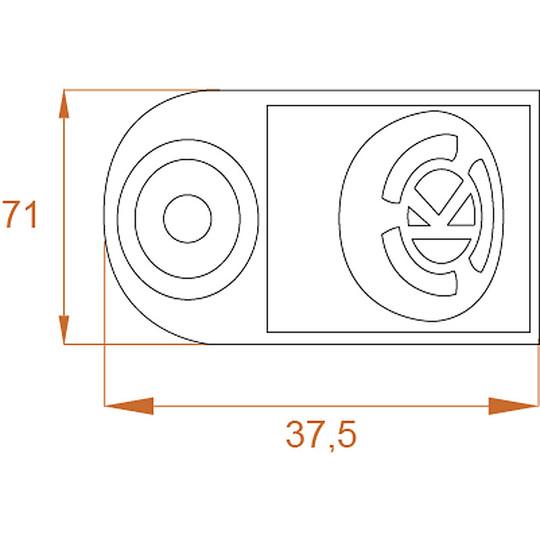 Bloccadisco Moto Con Allarme Sonoro KOVIX KD6 In Lega di Zinco Perno 6 mm