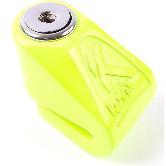 Bloccadisco Moto Mini KOVIX KN In Acciaio Inossidabile Perno 6 mm Giallo
