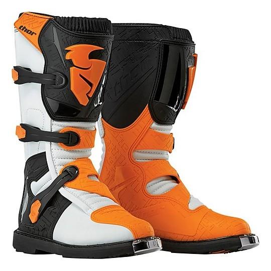Boots Moto Cross Enduro Thor Blitz White Orange