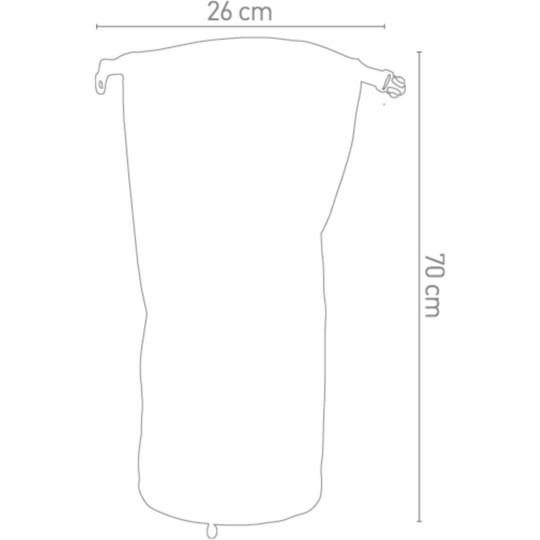 Borsa Moto a Rullo 100% Impermeabile Darts Tube 30 Litri Grigio
