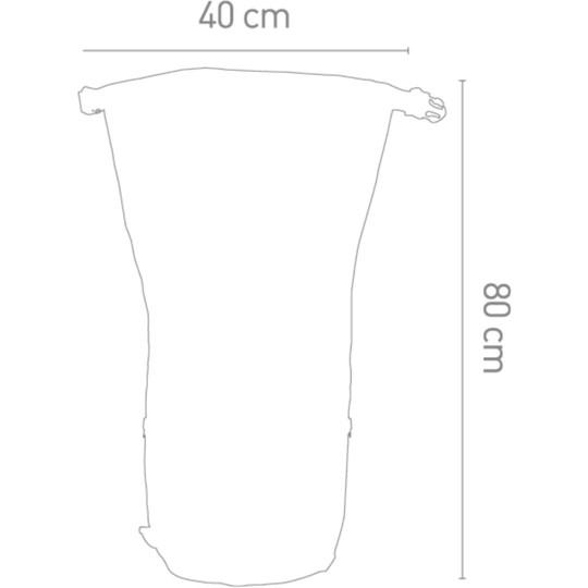 Borsa Moto a Rullo 100% Impermeabile Darts Tube 50 Litri Nero