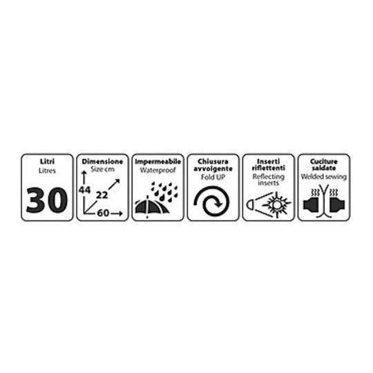 Borsa Moto Dry-Pack Impermeabile Lampa 30 Litri