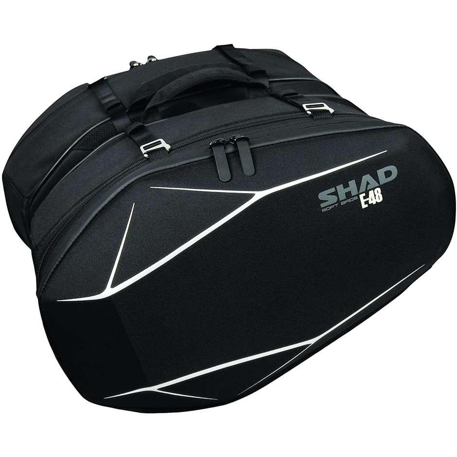 Borse Moto Laterali Shad E48 Semi Rigide Fino a 52 Litri