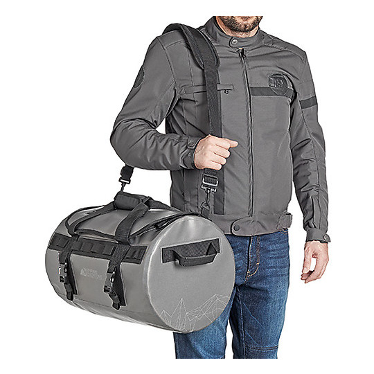 Borsone Moto da Sella Waterproof Kappa RAW409 Grigio
