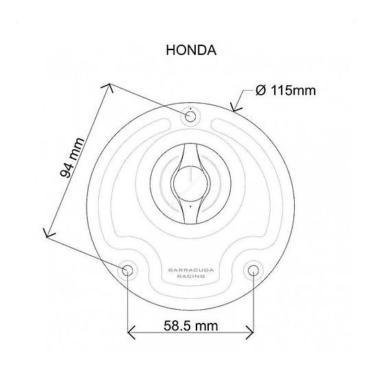 Bouchon de réservoir en aluminium Barracuda pour divers modèles Honda