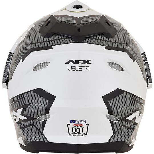 Cacso Moto Integrale Dual Sport Afx FX-39 Colorazione VELETA Nero