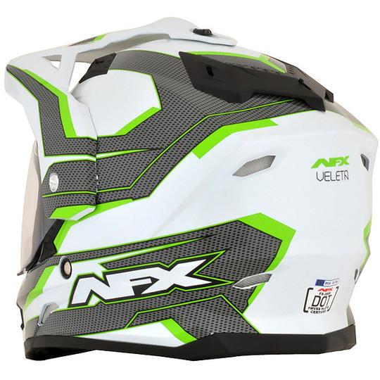 Cacso Moto Integrale Dual Sport Afx FX-39 Colorazione VELETA Verde