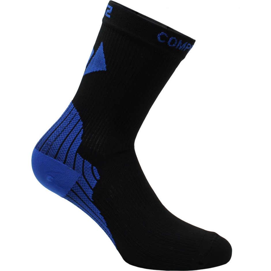 Calza a Compressione Corte Sixs Active Sock Nero Blu