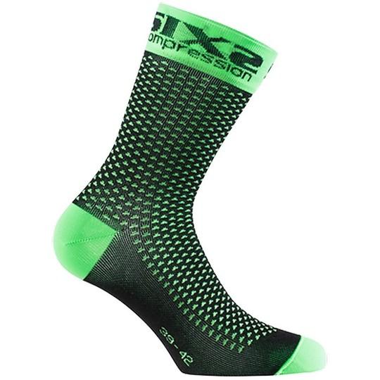 Calza Corta Compressiva SIXS  Verde