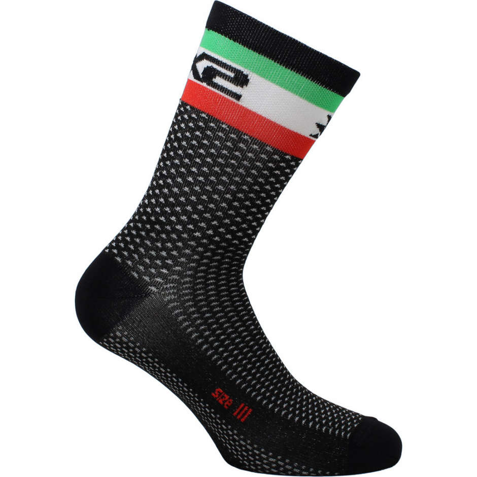 Calza Corta Sportiva Sixs SHORT LOGO Nero Italia