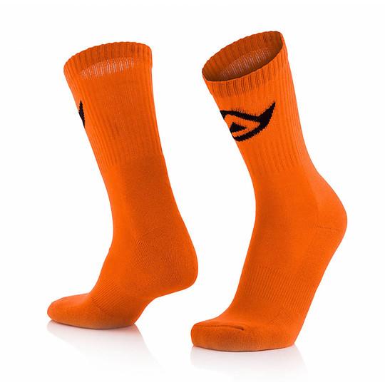 Calze Moto Corte Acerbis Cotton Socks Arancio Fluo