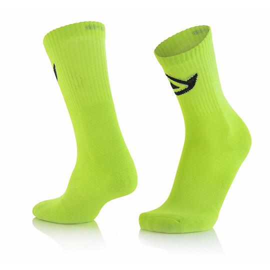 Calze Moto Corte Acerbis Cotton Socks Giallo Fluo