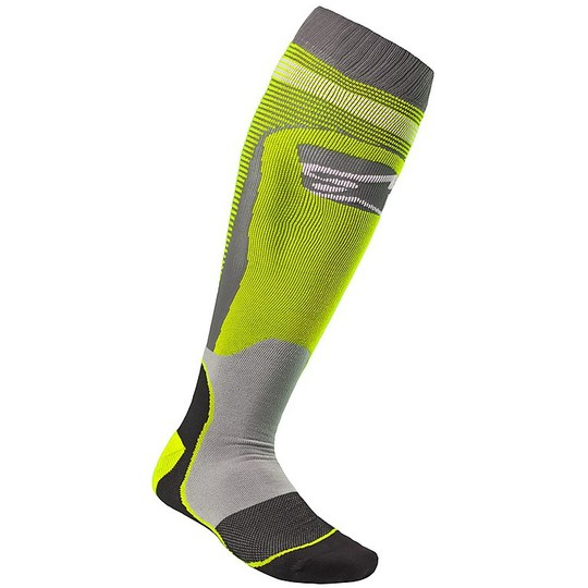 Calze Moto Cross Enduro Alpinestars MX20 MX Plus-1 Socks Nero Giallo Fluo
