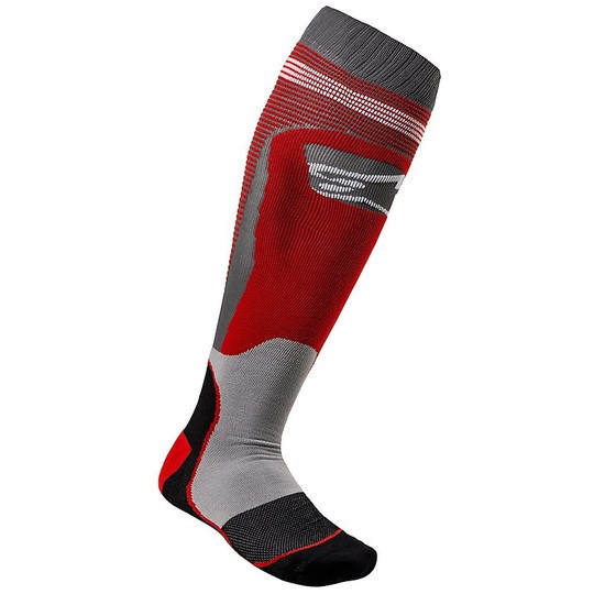 Calze Moto Cross Enduro Alpinestars MX20 MX Plus-1 Socks Rosso Grigio